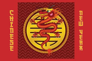 Chinese Dragon & New Year Symbols