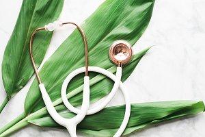 Rose Gold + Ti Plant Stethoscope