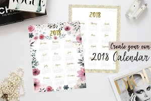 Create your own 2018 calendar
