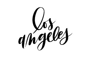 Los Angeles Brush Lettering Vector