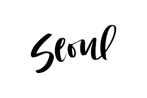 Seoul Brush Lettering Vector