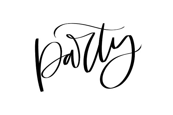 Hand Lettering Party Vector