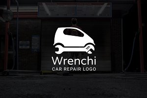 Wrenchi : Car / Auto Repair Logo