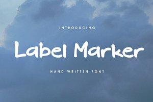 Label Marker Font