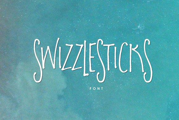 Swizzlesticks Font