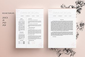 Sakura CV / Resume Template / M