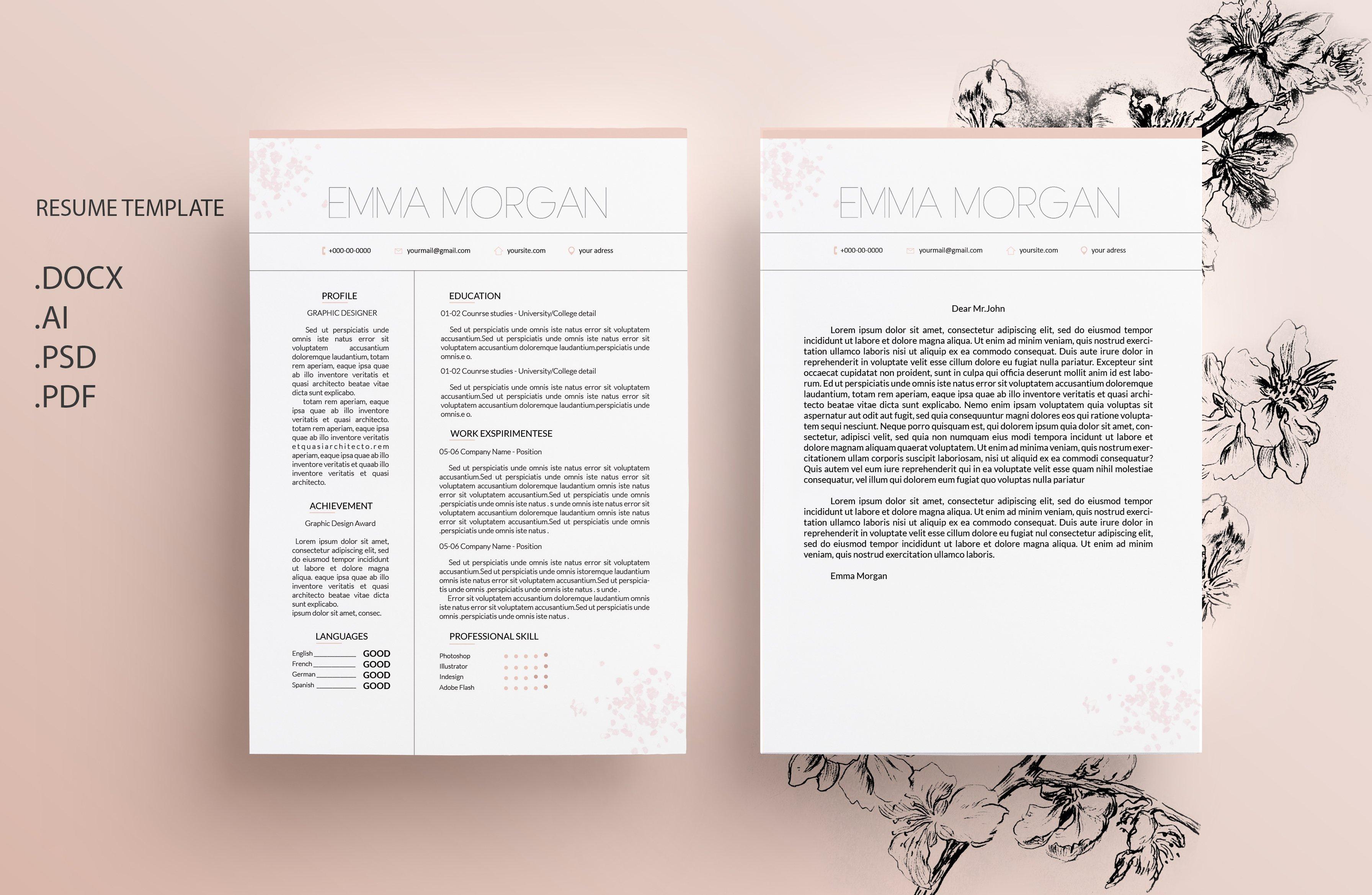 black white cv resume template m resume templates creative