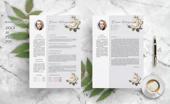 Flower CV Resume Template M