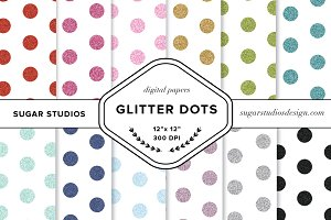 Glitter Dots Digital Paper Set