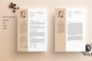 Coffe CV / Resume Template / M