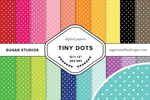 Tiny Dots Digital Background Papers