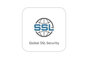 Global SSL Security Icon. Flat Design.