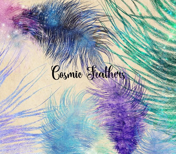 Cosmic Feathers Clipart