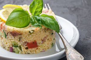 Couscous (bulgur) salad