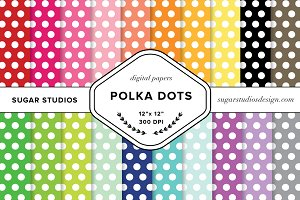 Polka Dots Digital Paper Mega Pack