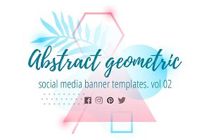 Abstract geometric banners 02