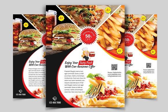 restaurant flyer vol 01 flyer templates creative market