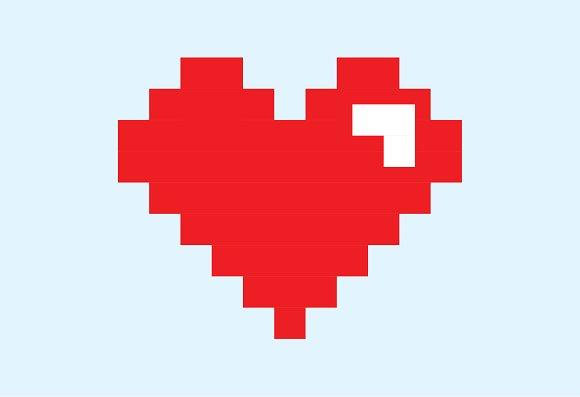 8 Bit Heart Pixel Icon Icons Creative Market