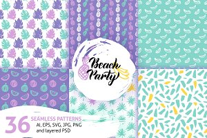 Trendy Summer Seamless Patterns