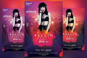 Fallin Party - PSD Flyer Template