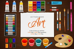 Art and Painting Vector Set