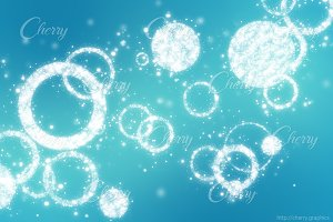 Light blue magical background