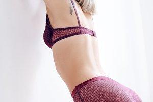 Beautiful blonde girl in underwear