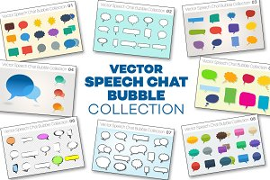 Vector Speech Chat Bubble Collection