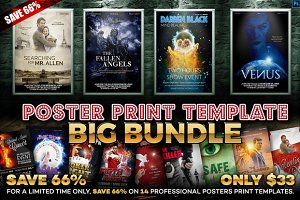 Poster Print Templates - Big Bundle