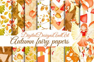 Autumn fairy papers
