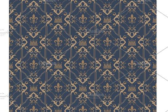 Seamless Wallpaper Damask Royal
