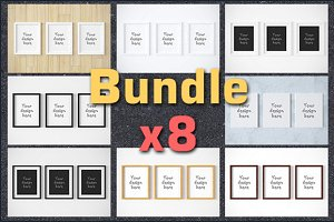 Mega BUNDLEx8 triple set mockups