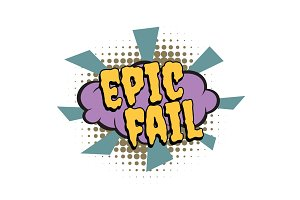 epic fail comic word