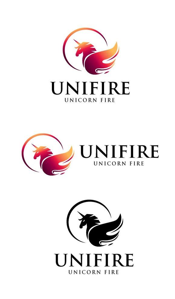 Unicorn Fire Logo