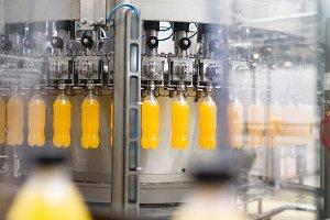 Orange juice and soda factory