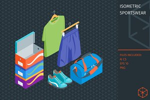 Isometric sportswear set