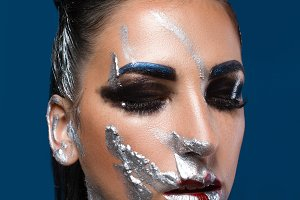 Portrait of a girl whith art makeup
