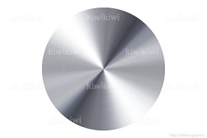 Silver metal disc isolated