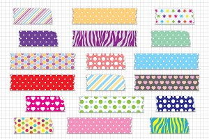 Washi Tape Clipart / Digital Tape