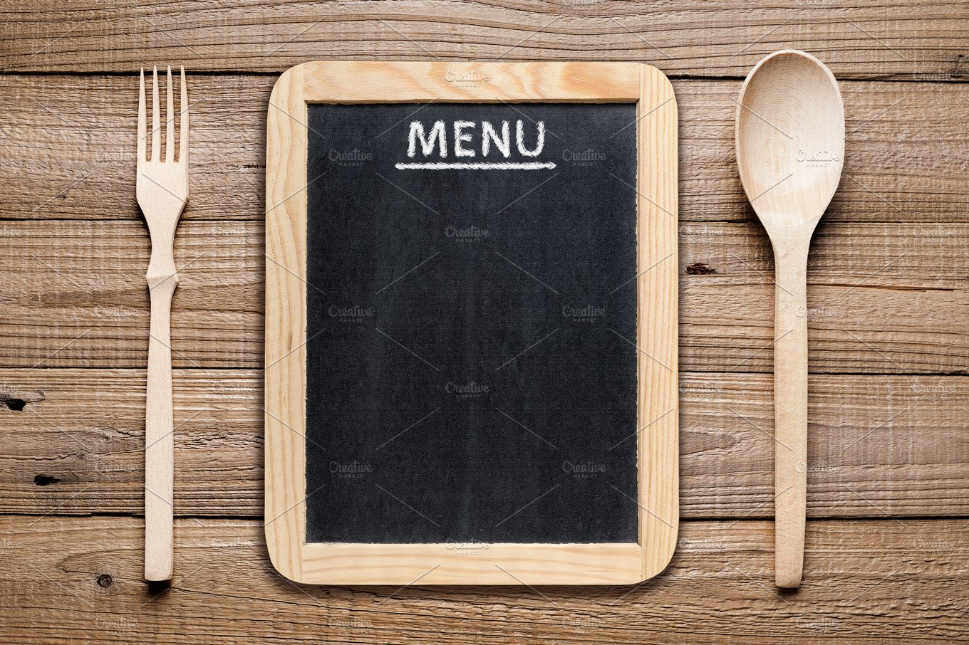 Fork Knife Menu Board ~ Food & Drink Photos ~ Creative Market