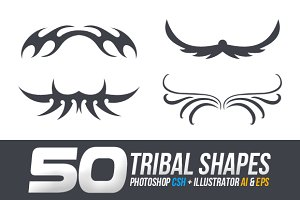 50 Tribal Custom Shapes