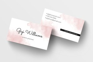 Watercolor Wash Business Card