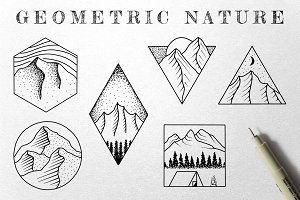 Geometric Nature Illustrations