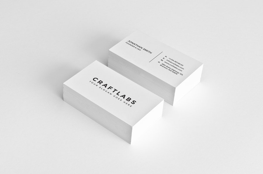 simple minimal business card 6 business card templates creative market. Black Bedroom Furniture Sets. Home Design Ideas