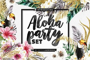 Aloha Party | Watercolor Set