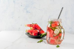 Watermelon infused detox water