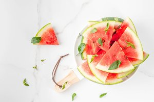 Watermelon, cut into pieces