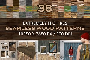 38 Extremely Hi-Res Wood Patterns