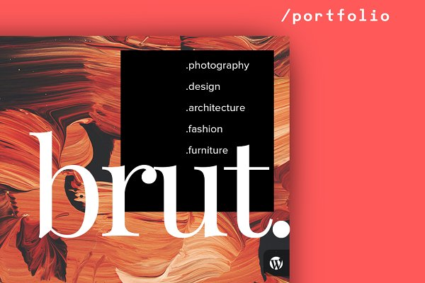 WordPress Portfolio Themes: itmeo - Brut Portfolio Theme