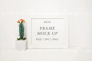White Frame Mockup-Horizontal 8x10